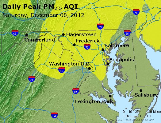 Peak Particles PM<sub>2.5</sub> (24-hour) - https://files.airnowtech.org/airnow/2012/20121208/peak_pm25_maryland.jpg