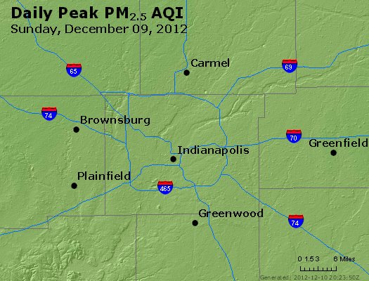 Peak Particles PM<sub>2.5</sub> (24-hour) - https://files.airnowtech.org/airnow/2012/20121209/peak_pm25_indianapolis_in.jpg