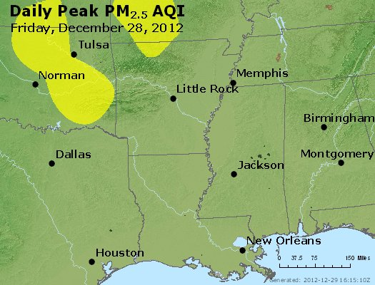 Peak Particles PM<sub>2.5</sub> (24-hour) - https://files.airnowtech.org/airnow/2012/20121228/peak_pm25_ar_la_ms.jpg