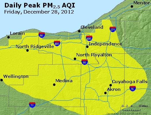 Peak Particles PM<sub>2.5</sub> (24-hour) - https://files.airnowtech.org/airnow/2012/20121228/peak_pm25_cleveland_oh.jpg