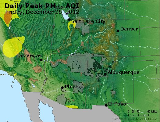 Peak Particles PM<sub>2.5</sub> (24-hour) - https://files.airnowtech.org/airnow/2012/20121228/peak_pm25_co_ut_az_nm.jpg