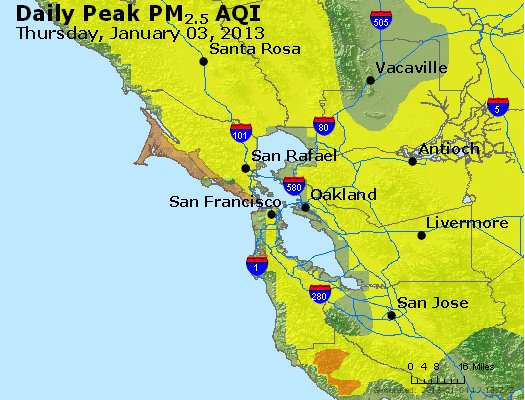 Peak Particles PM<sub>2.5</sub> (24-hour) - https://files.airnowtech.org/airnow/2013/20130103/peak_pm25_sanfrancisco_ca.jpg