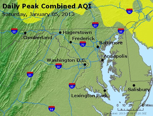 Peak AQI - https://files.airnowtech.org/airnow/2013/20130105/peak_aqi_maryland.jpg