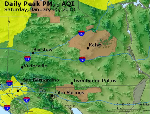 Peak Particles PM<sub>2.5</sub> (24-hour) - https://files.airnowtech.org/airnow/2013/20130105/peak_pm25_sanbernardino_ca.jpg