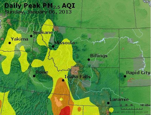 Peak Particles PM2.5 (24-hour) - https://files.airnowtech.org/airnow/2013/20130106/peak_pm25_mt_id_wy.jpg
