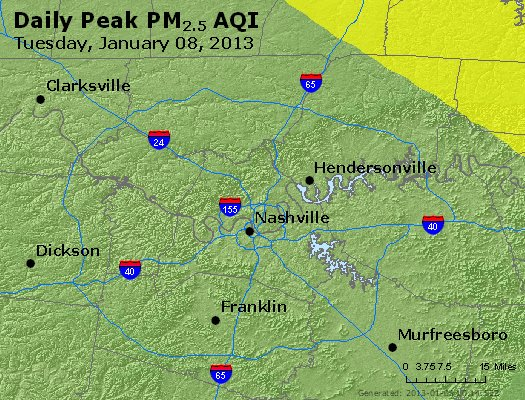 Peak Particles PM<sub>2.5</sub> (24-hour) - https://files.airnowtech.org/airnow/2013/20130108/peak_pm25_nashville_tn.jpg