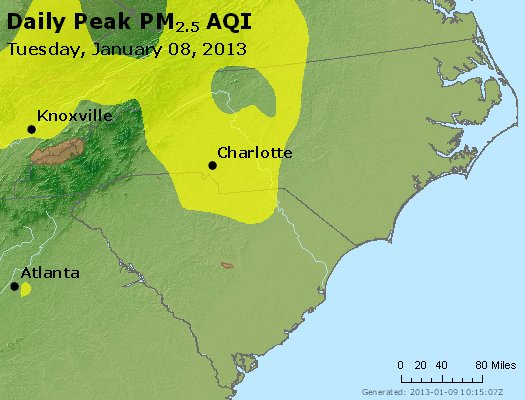 Peak Particles PM2.5 (24-hour) - https://files.airnowtech.org/airnow/2013/20130108/peak_pm25_nc_sc.jpg