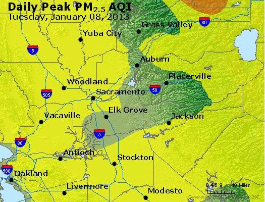 Peak Particles PM<sub>2.5</sub> (24-hour) - https://files.airnowtech.org/airnow/2013/20130108/peak_pm25_sacramento_ca.jpg