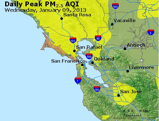 Peak Particles PM<sub>2.5</sub> (24-hour) - https://files.airnowtech.org/airnow/2013/20130109/peak_pm25_sanfrancisco_ca.jpg