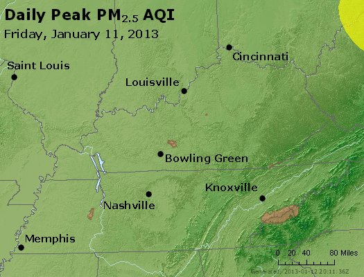 Peak Particles PM<sub>2.5</sub> (24-hour) - https://files.airnowtech.org/airnow/2013/20130111/peak_pm25_ky_tn.jpg