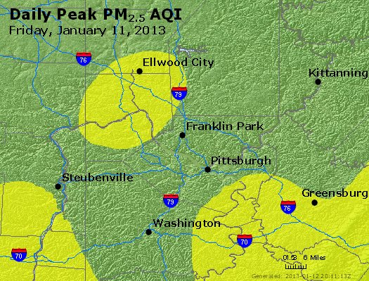 Peak Particles PM<sub>2.5</sub> (24-hour) - https://files.airnowtech.org/airnow/2013/20130111/peak_pm25_pittsburgh_pa.jpg