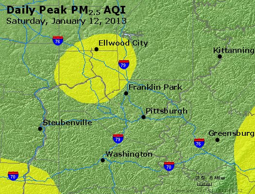 Peak Particles PM<sub>2.5</sub> (24-hour) - https://files.airnowtech.org/airnow/2013/20130112/peak_pm25_pittsburgh_pa.jpg