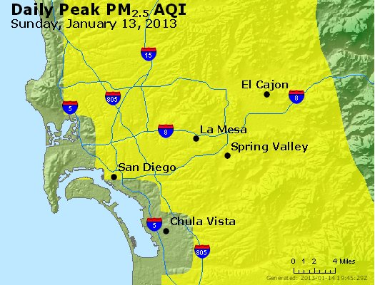 Peak Particles PM<sub>2.5</sub> (24-hour) - https://files.airnowtech.org/airnow/2013/20130113/peak_pm25_sandiego_ca.jpg
