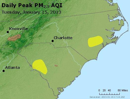 Peak Particles PM2.5 (24-hour) - https://files.airnowtech.org/airnow/2013/20130115/peak_pm25_nc_sc.jpg