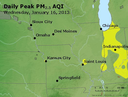 Peak Particles PM<sub>2.5</sub> (24-hour) - https://files.airnowtech.org/airnow/2013/20130116/peak_pm25_ia_il_mo.jpg