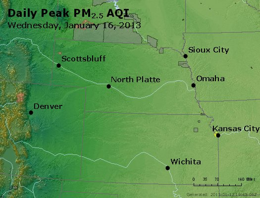 Peak Particles PM<sub>2.5</sub> (24-hour) - https://files.airnowtech.org/airnow/2013/20130116/peak_pm25_ne_ks.jpg