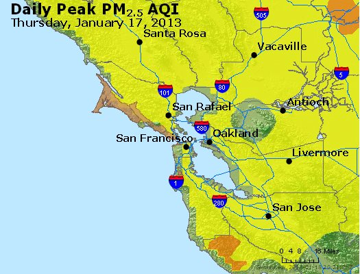 Peak Particles PM<sub>2.5</sub> (24-hour) - https://files.airnowtech.org/airnow/2013/20130117/peak_pm25_sanfrancisco_ca.jpg