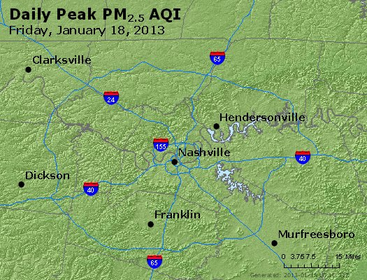 Peak Particles PM<sub>2.5</sub> (24-hour) - https://files.airnowtech.org/airnow/2013/20130118/peak_pm25_nashville_tn.jpg