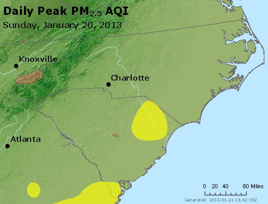 Peak Particles PM2.5 (24-hour) - https://files.airnowtech.org/airnow/2013/20130120/peak_pm25_nc_sc.jpg