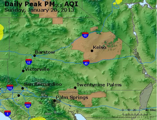 Peak Particles PM<sub>2.5</sub> (24-hour) - https://files.airnowtech.org/airnow/2013/20130120/peak_pm25_sanbernardino_ca.jpg