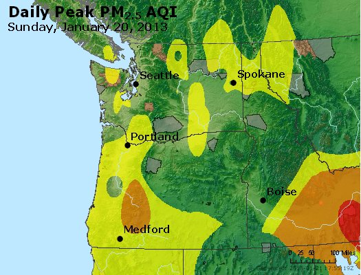 Peak Particles PM<sub>2.5</sub> (24-hour) - https://files.airnowtech.org/airnow/2013/20130120/peak_pm25_wa_or.jpg
