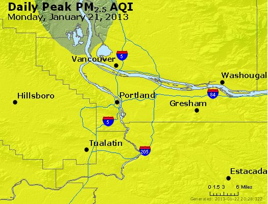 Peak Particles PM<sub>2.5</sub> (24-hour) - https://files.airnowtech.org/airnow/2013/20130121/peak_pm25_portland_or.jpg