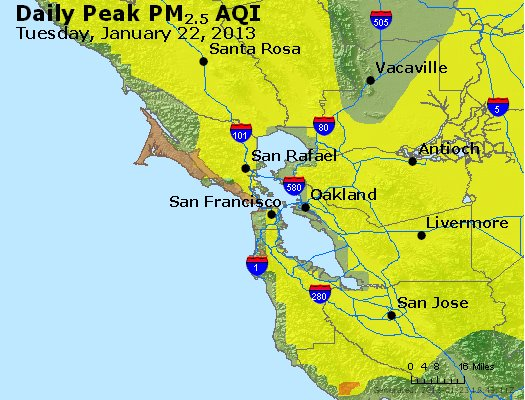 Peak Particles PM<sub>2.5</sub> (24-hour) - https://files.airnowtech.org/airnow/2013/20130122/peak_pm25_sanfrancisco_ca.jpg