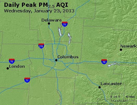 Peak Particles PM<sub>2.5</sub> (24-hour) - https://files.airnowtech.org/airnow/2013/20130123/peak_pm25_columbus_oh.jpg