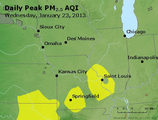 Peak Particles PM<sub>2.5</sub> (24-hour) - https://files.airnowtech.org/airnow/2013/20130123/peak_pm25_ia_il_mo.jpg