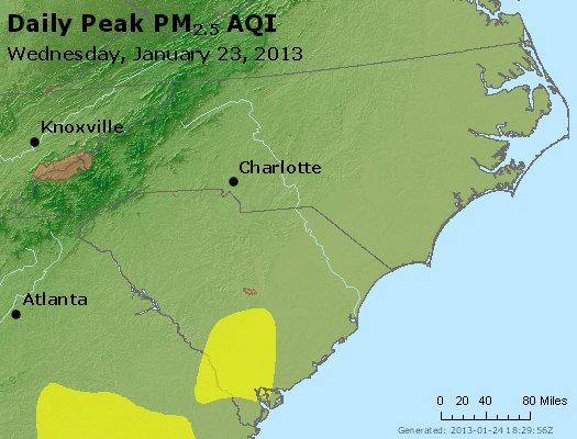 Peak Particles PM2.5 (24-hour) - https://files.airnowtech.org/airnow/2013/20130123/peak_pm25_nc_sc.jpg