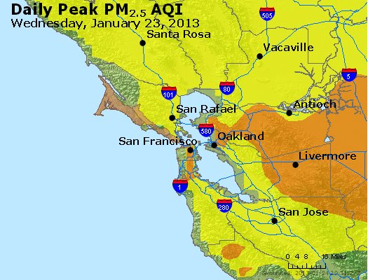 Peak Particles PM<sub>2.5</sub> (24-hour) - https://files.airnowtech.org/airnow/2013/20130123/peak_pm25_sanfrancisco_ca.jpg