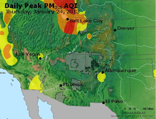 Peak Particles PM<sub>2.5</sub> (24-hour) - https://files.airnowtech.org/airnow/2013/20130124/peak_pm25_co_ut_az_nm.jpg