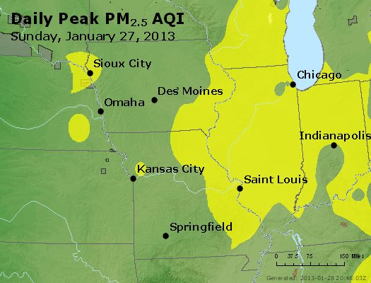 Peak Particles PM<sub>2.5</sub> (24-hour) - https://files.airnowtech.org/airnow/2013/20130127/peak_pm25_ia_il_mo.jpg