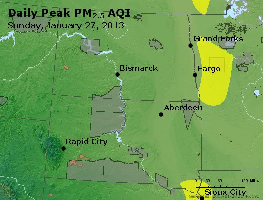 Peak Particles PM2.5 (24-hour) - https://files.airnowtech.org/airnow/2013/20130127/peak_pm25_nd_sd.jpg