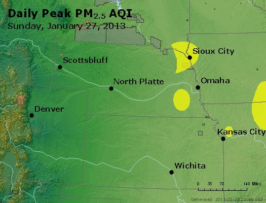Peak Particles PM<sub>2.5</sub> (24-hour) - https://files.airnowtech.org/airnow/2013/20130127/peak_pm25_ne_ks.jpg