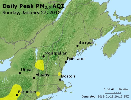 Peak Particles PM<sub>2.5</sub> (24-hour) - https://files.airnowtech.org/airnow/2013/20130127/peak_pm25_vt_nh_ma_ct_ri_me.jpg