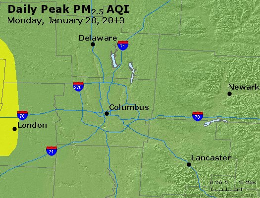 Peak Particles PM<sub>2.5</sub> (24-hour) - https://files.airnowtech.org/airnow/2013/20130128/peak_pm25_columbus_oh.jpg