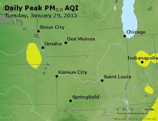 Peak Particles PM<sub>2.5</sub> (24-hour) - https://files.airnowtech.org/airnow/2013/20130129/peak_pm25_ia_il_mo.jpg