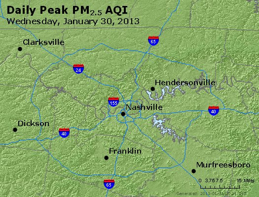 Peak Particles PM<sub>2.5</sub> (24-hour) - https://files.airnowtech.org/airnow/2013/20130130/peak_pm25_nashville_tn.jpg
