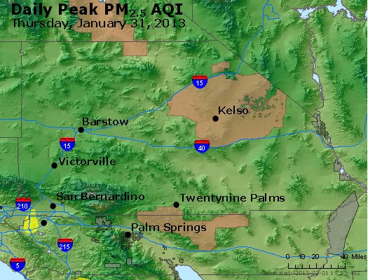 Peak Particles PM<sub>2.5</sub> (24-hour) - https://files.airnowtech.org/airnow/2013/20130131/peak_pm25_sanbernardino_ca.jpg