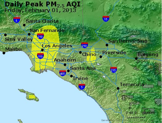 Peak Particles PM<sub>2.5</sub> (24-hour) - https://files.airnowtech.org/airnow/2013/20130201/peak_pm25_losangeles_ca.jpg