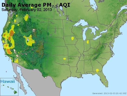 Peak Particles PM<sub>2.5</sub> (24-hour) - https://files.airnowtech.org/airnow/2013/20130202/peak_pm25_usa.jpg