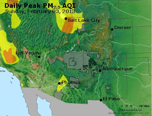 Peak Particles PM<sub>2.5</sub> (24-hour) - https://files.airnowtech.org/airnow/2013/20130203/peak_pm25_co_ut_az_nm.jpg