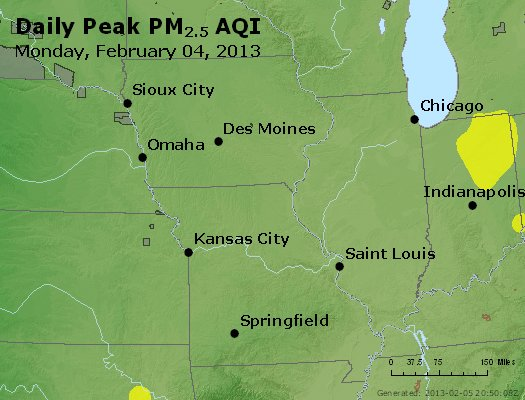 Peak Particles PM<sub>2.5</sub> (24-hour) - https://files.airnowtech.org/airnow/2013/20130204/peak_pm25_ia_il_mo.jpg
