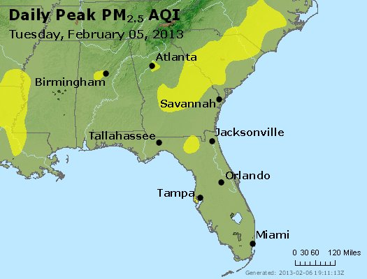 Peak Particles PM2.5 (24-hour) - https://files.airnowtech.org/airnow/2013/20130205/peak_pm25_al_ga_fl.jpg