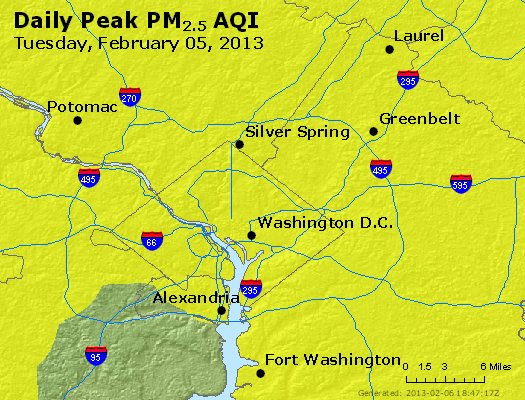 Peak Particles PM<sub>2.5</sub> (24-hour) - https://files.airnowtech.org/airnow/2013/20130205/peak_pm25_washington_dc.jpg
