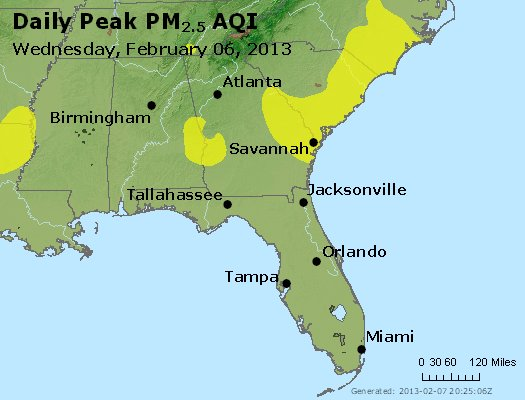 Peak Particles PM2.5 (24-hour) - https://files.airnowtech.org/airnow/2013/20130206/peak_pm25_al_ga_fl.jpg