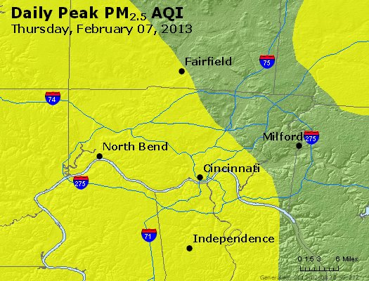 Peak Particles PM<sub>2.5</sub> (24-hour) - https://files.airnowtech.org/airnow/2013/20130207/peak_pm25_cincinnati_oh.jpg