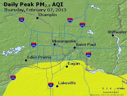 Peak Particles PM<sub>2.5</sub> (24-hour) - https://files.airnowtech.org/airnow/2013/20130207/peak_pm25_minneapolis_mn.jpg