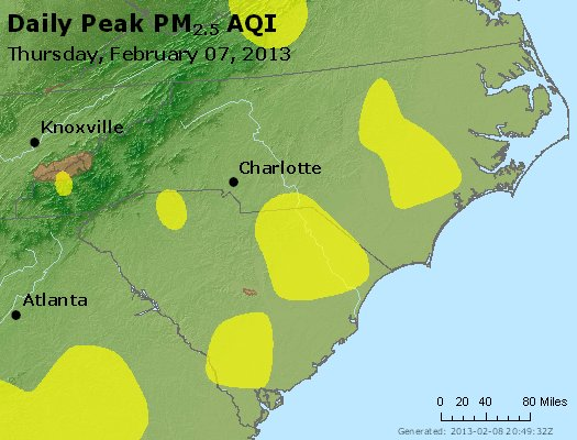 Peak Particles PM2.5 (24-hour) - https://files.airnowtech.org/airnow/2013/20130207/peak_pm25_nc_sc.jpg